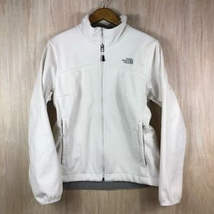 The North Face White Fleece Full Zip Jacket
